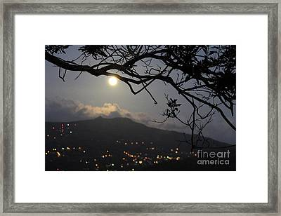 Blue Moon Over El Yunque Framed Print
