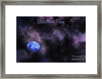 Blue Moon Rising Framed Print by Kaye Menner