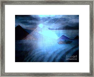 Blue Moon Sailing Framed Print
