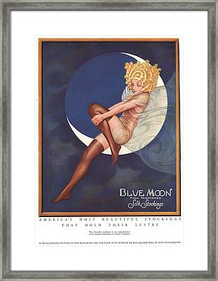Blue Moon Silk Stockings 1920s Usa Framed Print by The Advertising Archives