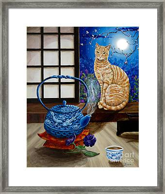 Blue Moon Tea Framed Print