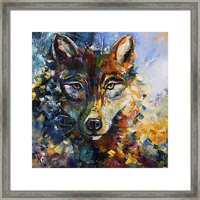 Blue Moon Wolf Framed Print