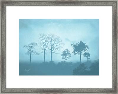 Blue Morning Framed Print by Anthony Mwangi