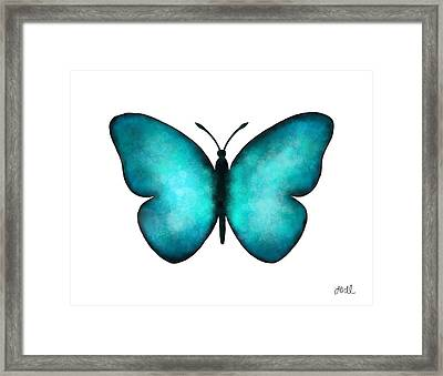 Blue Morpho Butterfly Framed Print by Laura Bell