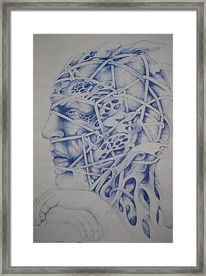 Blue Framed Print by Moshfegh Rakhsha