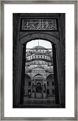 Blue Mosque Court Entrance Framed Print by Stephen Stookey