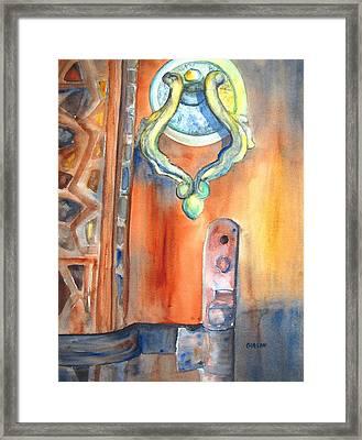 Blue Mosque Door Framed Print by Carlin Blahnik