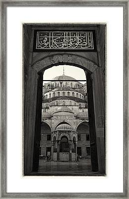 Blue Mosque Entrance Framed Print by Stephen Stookey