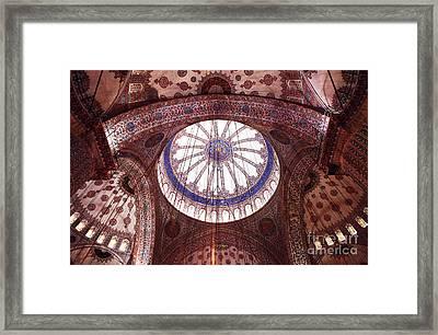 Blue Mosque Interior Framed Print