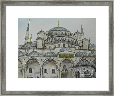 Blue Mosque Istanbul Turkey Framed Print
