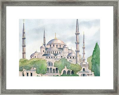 Blue Mosque Framed Print by Marsha Elliott