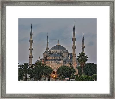 Blue Mosque Morning Light Framed Print by Stephen Stookey