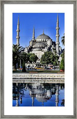 Blue Mosque Reflection Framed Print by Stephen Stookey