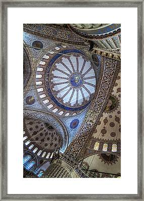 Framed Print featuring the photograph Blue Mosque by Ross Henton