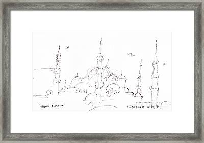 Blue Mosque Framed Print