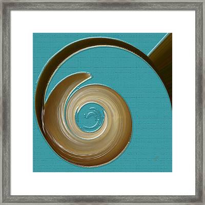 Blue Motion Framed Print
