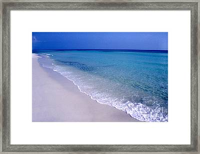 Blue Mountain Beach Framed Print