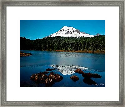 Blue Mountain Framed Print by Cole Black