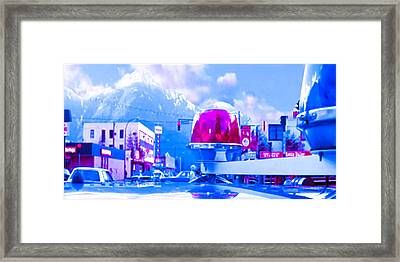 Blue Mountain Haven On Earth Beautiful Snow Season Cool Kool   Pink White Rush Party Engage Chrismas Framed Print by Navin Joshi