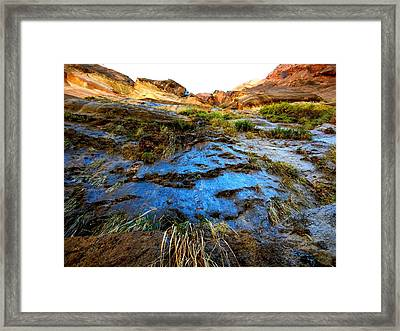 Blue Mountain Framed Print by Kruti Shah