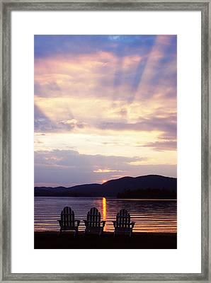 Blue Mountain Lake Ny Framed Print