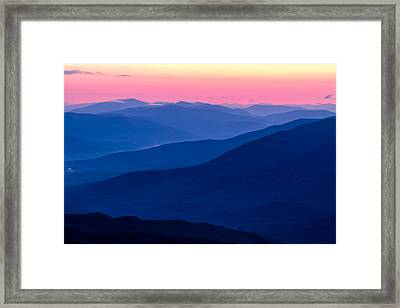 Blue Mountain Layers  Framed Print by Jeff Sinon