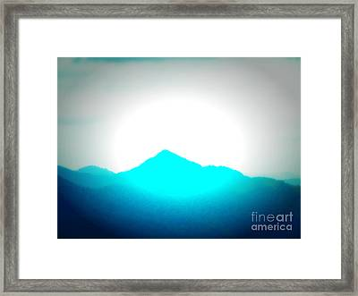 Blue Mountain Framed Print by Lorraine Heath