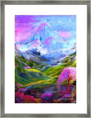 Blue Mountain Pool Framed Print