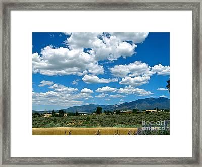 Blue Mountain Skies Framed Print