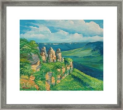 Blue Mountains Australia Framed Print