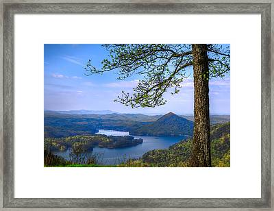 Blue Mountains Framed Print by Debra and Dave Vanderlaan