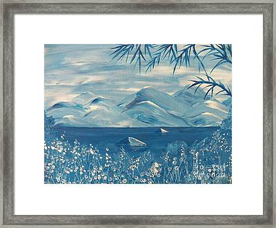 Blue Mountains Framed Print by Judy Via-Wolff