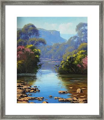 Blue Mountains River Framed Print