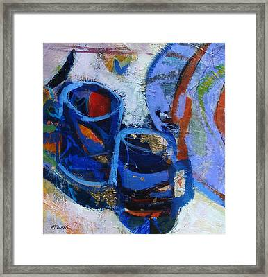 Blue Mugs Framed Print by Dale  Witherow