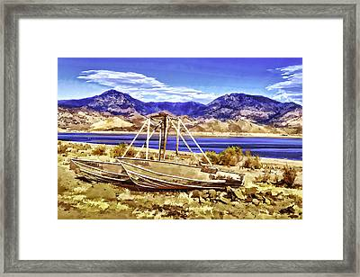 Framed Print featuring the painting Blue by Muhie Kanawati