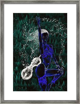 Blue Music. Framed Print by Kenneth Clarke