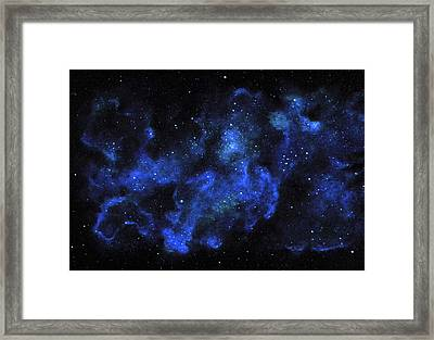 Blue Nebula Framed Print
