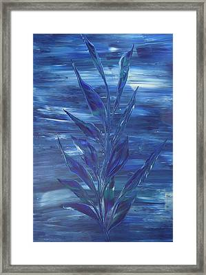 Framed Print featuring the painting Blue by Nico Bielow