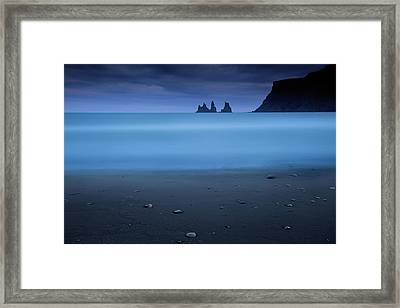 Blue Night 2 Framed Print by Amnon Eichelberg