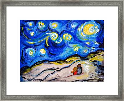 Blue Night Framed Print by Ramona Matei
