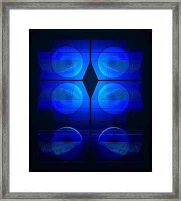 Blue Night Framed Print by Steve Godleski