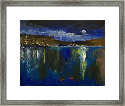 Blue Nocturne Framed Print by Michael Creese