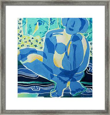 Blue Nude Framed Print by Diane Fine