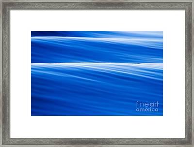 Blue Ocean Waves Abstract Framed Print