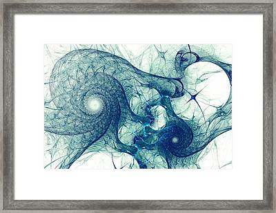 Blue Octopus Framed Print by Anastasiya Malakhova