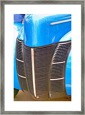 Blue Oldie Framed Print by Dieter  Lesche