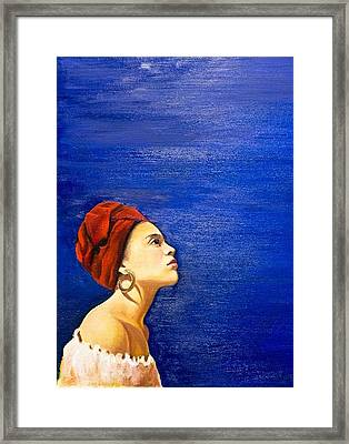 Blue Framed Print by Olinela