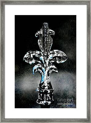 Blue On Black Framed Print by Scott Pellegrin