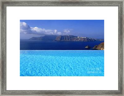 Blue On Blue Framed Print by Aiolos Greek Collections