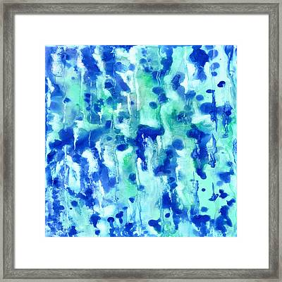 Blue On Blue Framed Print by Rosie Brown